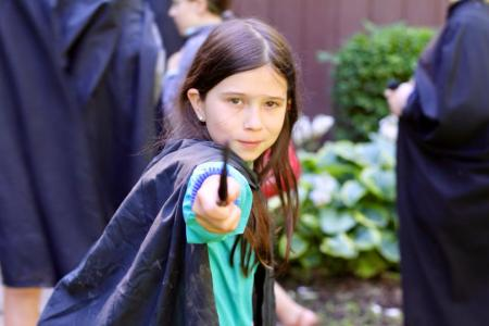 Girl with Harry Potter-like Wand at Camp Y-Noah